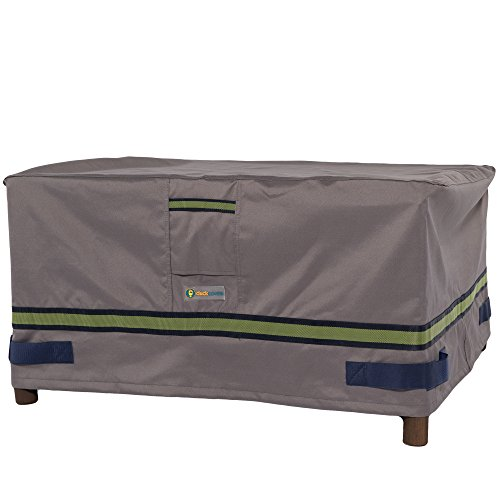 Duck Covers Soteria Rainproof 32 Rectangular Patio Ottoman/Side Table Cover