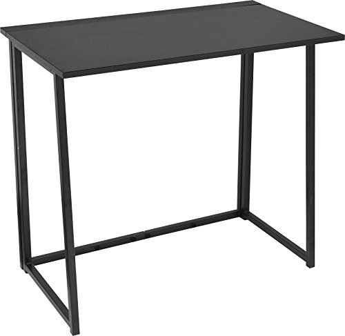 Urban Shop 47923 Folding Writing Desk, Black (Student Desk Black Small)