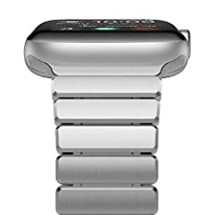 Compatibility: Custom designed for your precious Apple Watch, Compatible with Apple Watch Series 2 & Series 1 & Nike+, Sport & Edition All Generations 42mm.Attention to detail This stainless steel Apple Watch Band features a combi...