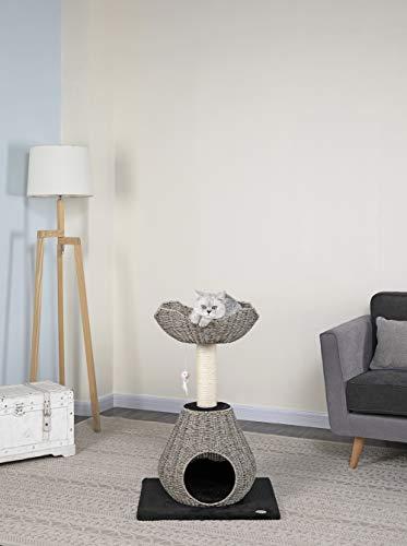 Go Pet Club Rattan Wicker Cat Tree Bed Furniture, 35-Inch