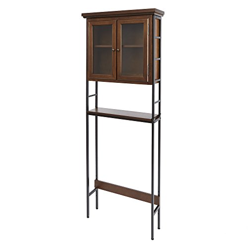 Silverwood Leighton Bathroom Collection 3-Tier Space Saver with Glass Doors 3, 67.5'' H by Silverwood