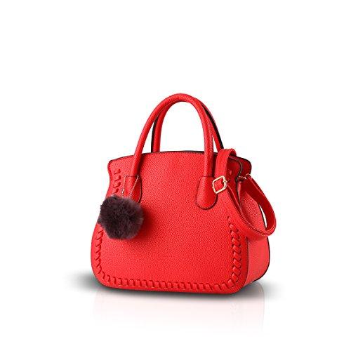 NICOLE&DORIS señoras / las mujeres / bolso de los bolsos femeninos del bolso femenino del bolso Altos bolsos de la PU(Red) Rojo
