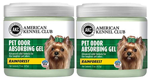 Pet Odor Absorber Gel - Air Freshener - Specially Formulated for the Toughest Pet Odors - American Kennel Club Certified - Made with Natural Essential Oils - 2 Pack (15 OZ) (Rainforest) ()