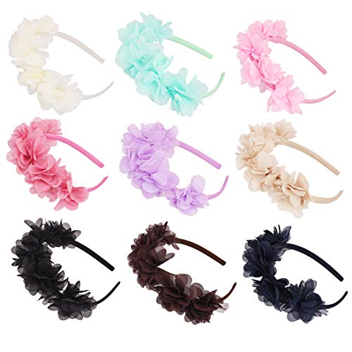 Flower Crown Headband Wedding Festival Parties Floral Hairband (Pastel Colors)