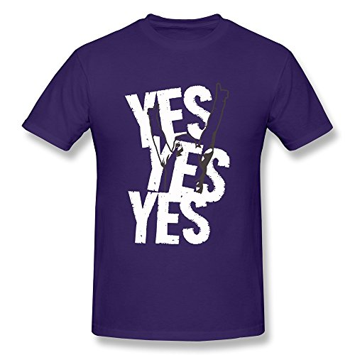 YHYT Men T-Shirt WWE Daniel Bryan Short Sleeve L Purple