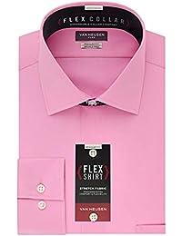 Men's Flex Collar Regular Fit Solid Spread Collar Dress...