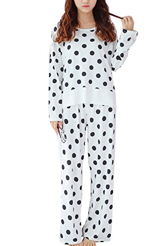 Leisure Home Big Girls Cute Polka Dot Soft and Comfort Pajamas 2Pieces(10y-18y) by Leisure Home