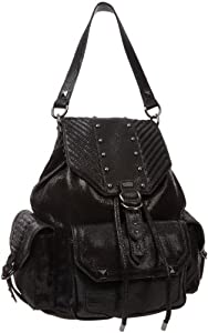 Juicy Couture Young Wild and Free Cargo Backpack,Black Salamander,One Size