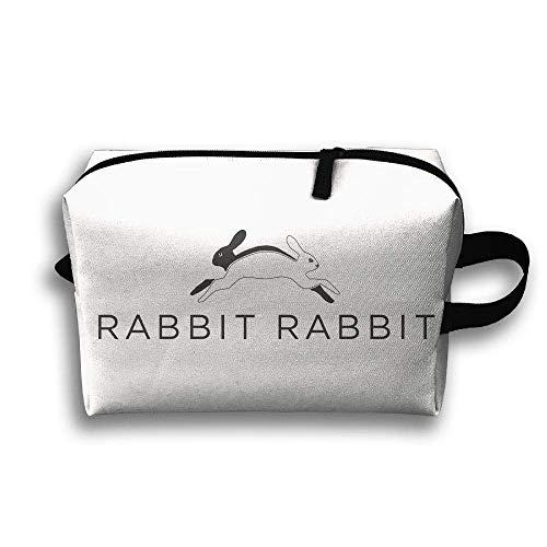 With Wristlet Cosmetic Bags Rabbit Travel Portable Makeup Bag Zipper Wallet Hangbag
