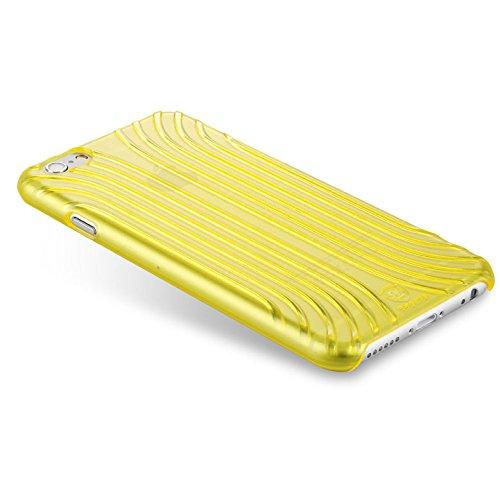 Baseus étui de protection transparent-premium case hard shell/ultra-fin/fin/coque de protection pour apple iPhone 6 jaune transparent