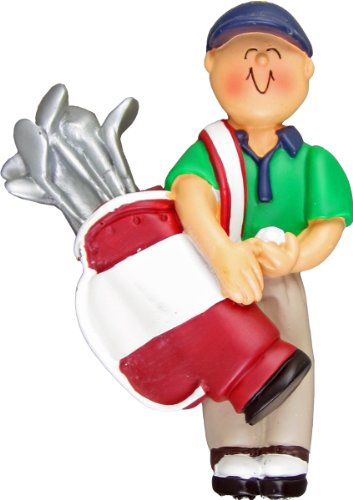 Ornament Central OC-105-M Golfer with Clubs Ornament