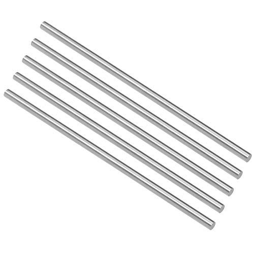 3.5 Mm Shaft - uxcell HSS Lathe Round Rod Solid Shaft Bar 3.5mm Dia 100mm Length 5Pcs