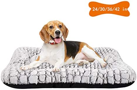 Coohom Deluxe Plush Dog Bed Pet Cushion Crate Mat,Washable Pet Bed for Medium Large Dogs and Dogs Crates