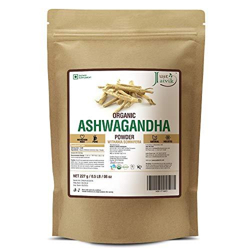 100% Organic Ashwagandha Powder- Withania Somnifera- USDA Certified Organic- 227g (0.5 LB) 8 oz – Ayurvedic Herbal…