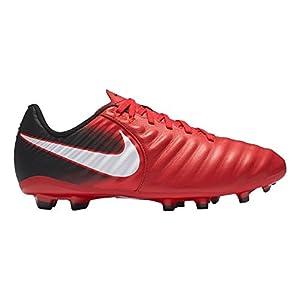 Nike Kid's Jr. Tiempo Ligera IV FG Soccer Cleat (Sz. 4.5Y) Red, Black