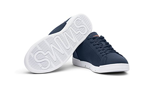 Swims Hombres Breeze Tennis Knit Sneakers Para Piscina Y Verano Azul Marino / Blanco