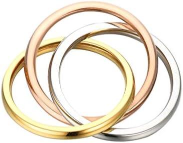 ステンレス リング レディース 指輪 メンズ シンプル 三生三世 アクセサリー 米国5号