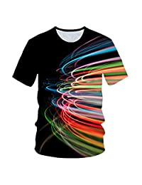 Short Sleeve - Colored Thread T-Shirt,Short Sleeve T-Shirt & 3D Digital Printing Tank Tops - Women's Vest,4XL
