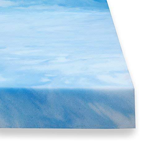 Sure2Sleep Soft-Plush 3-LB High Density Open Cell Gel Memory Foam Mattress Topper Made in USA 2-Inch ()