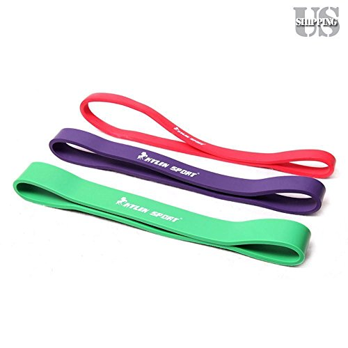Set Of 3 Heavy Duty Resistance Band Loop Exercise Yoga Workout Power Gym - Loop Mall
