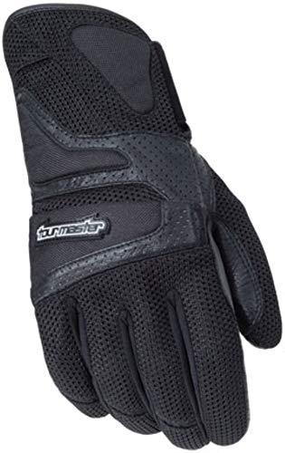 (Tour Master Intake Air Mens Textile Street Racing Motorcycle Gloves - Black / 3X-Large)