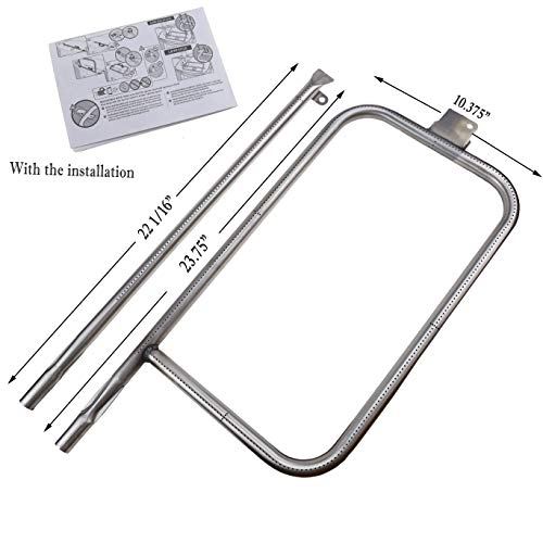 Hisencn Stainless Steel Repair Kit Replacement Parts Tube Burner 60036, 80385 for Weber Q Series Q300, Q320, Q3000, Q3200, 404341, 57060001, 586002, 65032 Gas Grills, 13122
