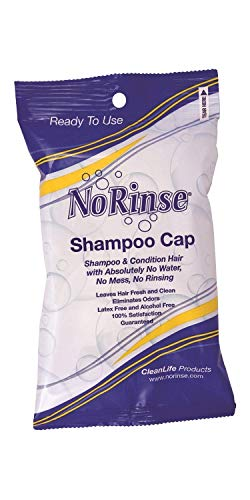 Non Latex Adult - No-Rinse Shampoo Cap, Microwaveable Latex-Free and Odorless (Pack of 5)