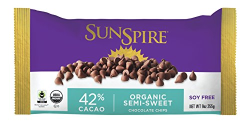 SunSpire Organic Fair Trade 42% Cacao Semi-Sweet Baking Chips, 9 Ounce