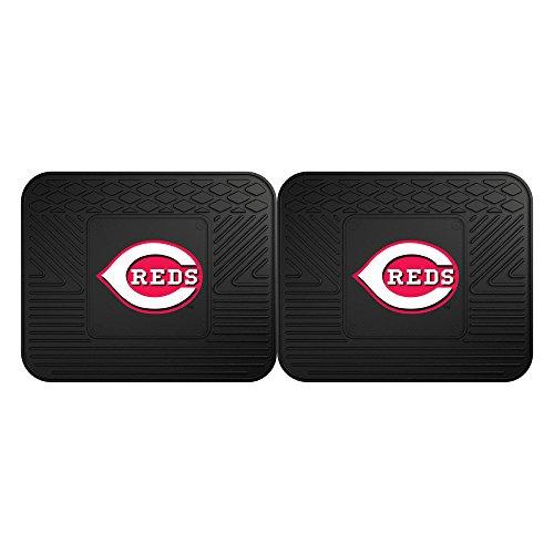 CC Sports Decor MLB Cincinnati Reds Heavy Duty Rear Car Floor Mats, 2-Piece Set