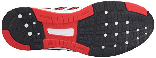 Adidas Performance cero rebote M Zapato corriente, negro / oro metálico / blanco, 6 M US Vivid Red/Iron Metallic Grey/Black