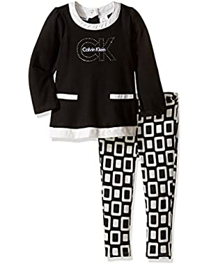 Baby Girls' French Terry Tunic with Leggings Set