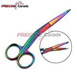 PRECISE CANADA: MULTI TITANIUM COLOR RAINBOW KNOWLES BANDAGE SCISSORS 5 1/2'' ANGLED STAINLESS STEEL