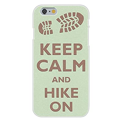 Apple iPhone 6+ (Plus) Custom Case White Plastic Snap On - Keep Calm and Hike On Boot Print