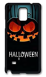 MOKSHOP Adorable Halloween Pumpkin 1 Hard Case Protective Shell Cell Phone Cover For Samsung Galaxy Note 4 - PCB