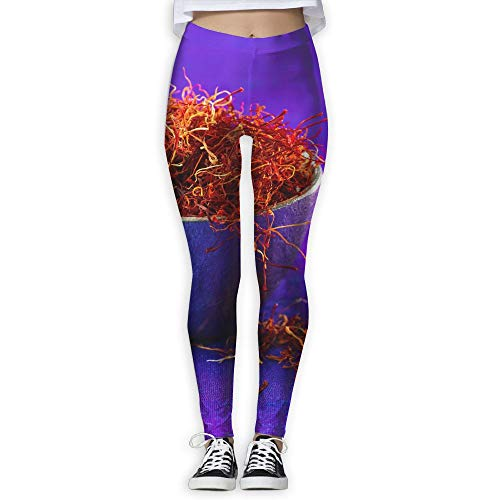 FINOHM Purple Bowl Saffron Provide Women with High-Waisted, Ultra Soft Lightweight Gym Yoga Leggings