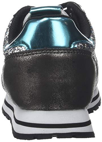Ciclista Donna Glitter Deportivo Sneaker Argento 14 plata Victoria Axq5Iwaw