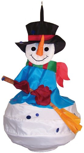 In the Breeze Snowman Wind Friend 3D Windsock