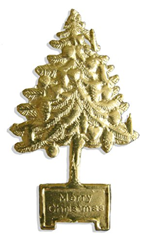 Victorian Scrap Die Cuts (Walter Kunze Design 8-Piece Dresden Christmas Tree, Gold)