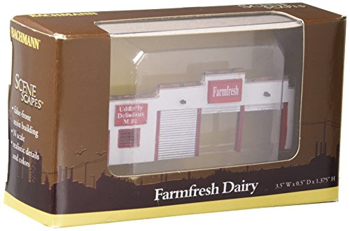 Bachmann Industries False Front Resin Building Farm Fresh Dairy