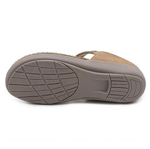 Slittata Khaki Donna Nvxie flop Strass Dimensioni Accogliente Di Grandi Piatto Fondo Morbido Sandali Filo Flip Z6qxp6v