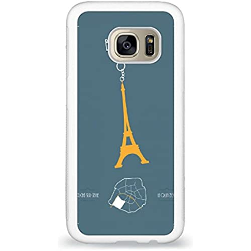 Customized Eiffel Tower Sign back phone cases for Samsung Galaxy S7 Sales