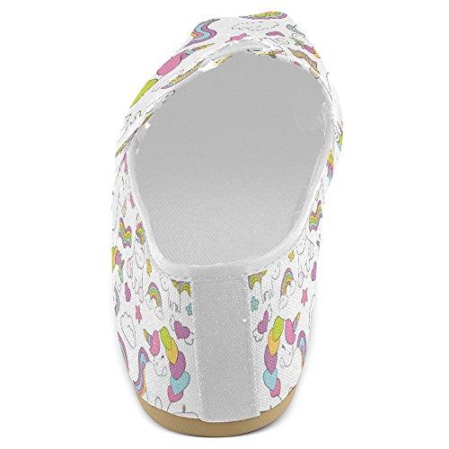 Interestprint Mocasines Para Mujer Classic Casual Slip De Lona En Los Zapatos De Moda Sneakers Mary Jane Flats Cute Unicorns