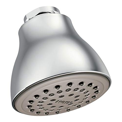 Moen 6300 One-Function 2 1/2-Inch Diameter Spray Head Standard Showerhead, Chrome (Remove Water Saver From Moen Shower Head)