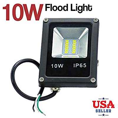 10W 120V Waterproof Outdoor Garden Landscape LED Flood Light Daylight White