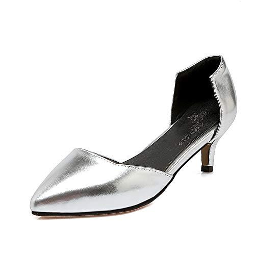5 36 Femme EU Sandales Compensées SDC05590 AdeeSu Argenté Silver xnwY40xqF