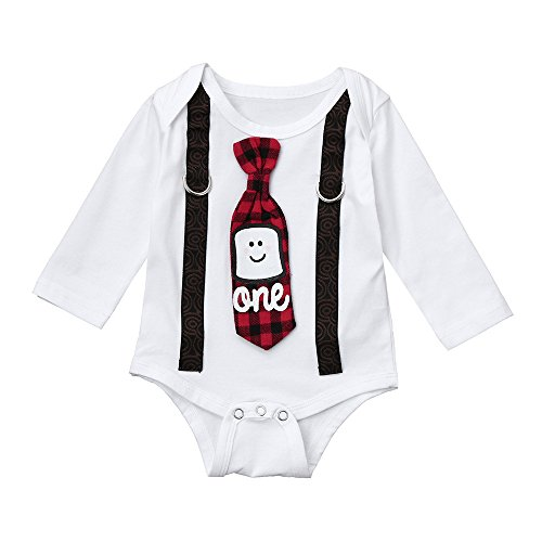 Baby Romper,Lowprofile Xmas Infant Newborn Baby Boy Letter Tie Bodysuit Jumpsuit Christmas Outfits Costume
