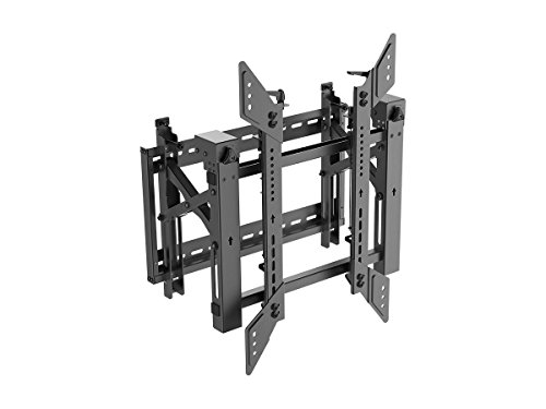 Monoprice Video Wall System Bracket | Portrait, with Push-to-Pop-Out, Max Weight 150lbs, Rotating - Entegrade Series
