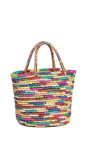 Sensi Studio Women's Medium Tote Bag, Multicolor Brights/Gold, One Size