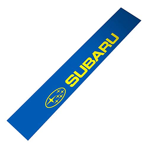 Demupai Front Windshield Banner Decal Vinyl Car Stickers for Subaru Impreza WRC (WRC Blue Background)