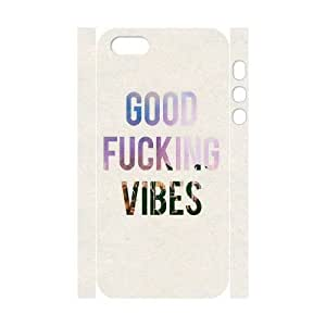Custom New Case for Iphone 5,5S 3D, Good Vibes Phone Case - HL-505268